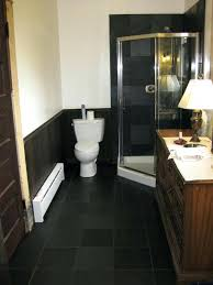 Pink And Black Bathroom Ideas Black Tile Bathroom Bathrooms With Black Floors Brilliant For