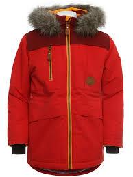 color kids sakata parka coat red winter parker jacket new kids