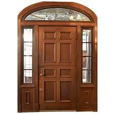 complete walnut entry door and paneled vestibule circa 1915 at
