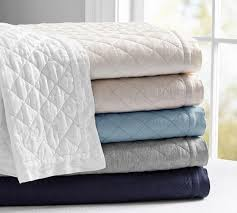 belgian flax linen diamond quilt u0026 pillowcases pottery barn au