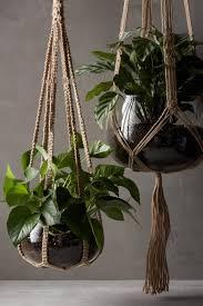 idee suspensions macrame plantes vertes decoration roselia garden