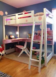 Bed With Stairs And Desk Bedroom Wooden Bunk Beds With Stairs Plus Drawers And Computer