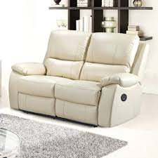 Electric Recliner Armchair Cream Bonded Leather Bjorn Recliner Chair And Stool Set Small