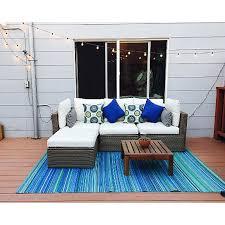 Buy Outdoor Rug Buy Fab Habitat Indoor Outdoor Rug Cancun In Turquoise Moss