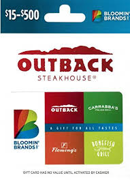 fleming s gift card bloomin brands gift card 50 gift cards