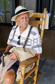 Old Man In Rocking Chair Elderly Eighty Plus Year Old Man Sitting On A Rocking Chair Stock