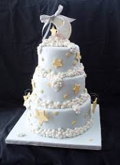 Angel Decorated Cake Stars Moon U0026 Clouds Shower Cake For An Angel Themed Baby U2026 Flickr