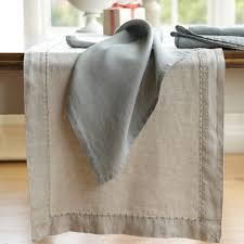 washed linen table runner williams sonoma christmas