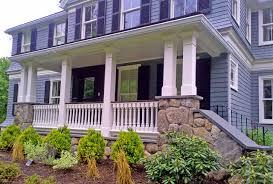 custom porch railing in weston ma traditional porch boston