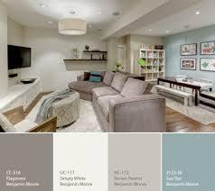 a calming palette for a basement basements art and blue
