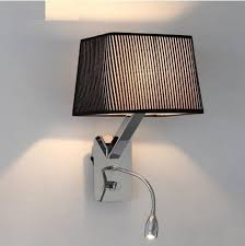 Bedroom Wall Lights With Switch Creative Fabric Wall Sconces Band Switch Modern Led Reading Wall