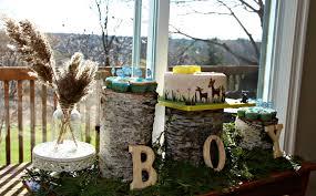 woodland baby shower home design