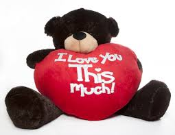 big valentines day brownie cuddles s day teddy with heart pillow i