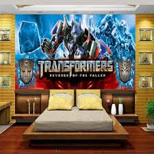 transformadores de parede popular buscando e comprando personalizado 3d foto papel de parede mural quarto dos miudos transformers a vinganca dos derrotados pintura
