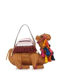 kate spade new york spice things up wicker camel bag lyst