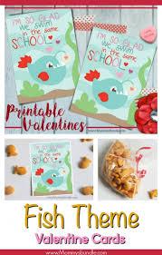 fish valentines fish school printable card s bundle
