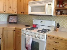 delighful kitchen backsplash vinyl wallpaper behind stove pics