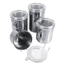 stainless steel canisters kitchen 4 sizes stainless steel kitchen food storage container bottle sugar