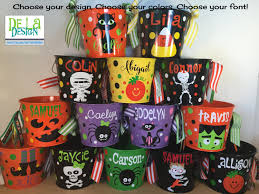 Gift Baskets For Halloween by Personalized Halloween Trick Or Treat Metal Bucket 5 Quart