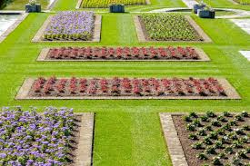 Italian Garden Ideas Italian Gardens Ideas Flowerbeds Above View Stock Photo Picture