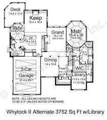 whytock ii 3752 luxury floor plans traditional floor plans