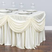 table cloth 4 ft drape chiffon all in 1 tablecloth pleated skirt ivory