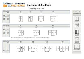 Standard Curtain Sizes Chart by Standard Sliding Door Sizes Saudireiki