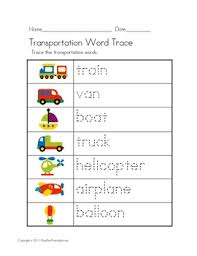 this printable transportation thematic unit is a great way to