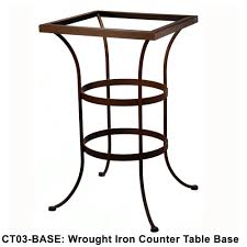 Standard Counter Height by Ow Lee Standard Wrought Iron Counter Height Table Base Ct03 Base