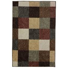 Lowes Throw Rugs Shop Mohawk Home Mansfield Brown Rectangular Indoor Machine Made