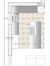 plan cuisine 11m2 cuisine avec îlot central