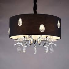 Chandelier With Black Shades Drum Chandelier Large Drum Shade Chandelier