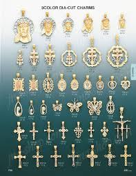 religious charms 14k gold jesus religious 3color dia cut charm pendan