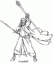 gandalf from the hobbit coloring page famous people coloring