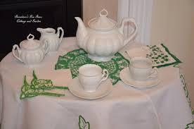 little tea table set bernideen s tea time cottage and garden saint patrick s day for