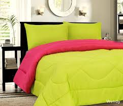 down alternative reversible comforter lime pink