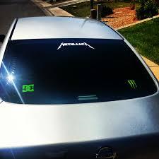 custom glass door decals metallica sticker car stickers