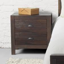 Metal Nightstands With Drawers Montauk Two Drawer Nightstand Grain Wood Furniture