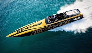 bugatti boat mercedes amg inspired cigarette boat delivers blow your hair back