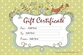 homemade gift certificate templates u2013 8 free word pdf documents
