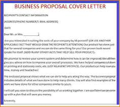 business proposal letter example sample business proposal letter