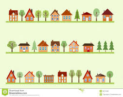 Tiny House Cartoon Street Cartoon Stock Photo Image 36751590