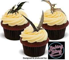 up cake topper novelty dinosaur pterodactyl mix edible stand up cake toppers