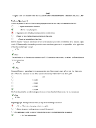 chapter 1 quiz income tax in the united states taxation in the