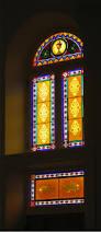 leaded glass door repair painting