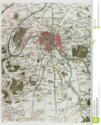 Maps Of Paris France by Historical Map Of Paris Royalty Free Stock Photo Image 34764935