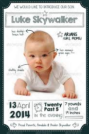 baby announcement cards ba announcement card template vector free announcement