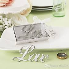 favors online new arrival wedding gifts silver shaped bottle opener