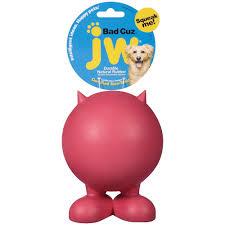 jw pet bad cuz dog toy large assorted