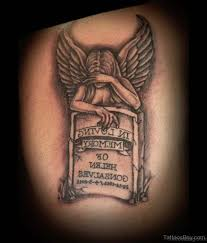 60 most amazing memorial angel tattoos for back